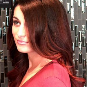 best shade of red hair Benjamin Kyle Salon Cocoa FL